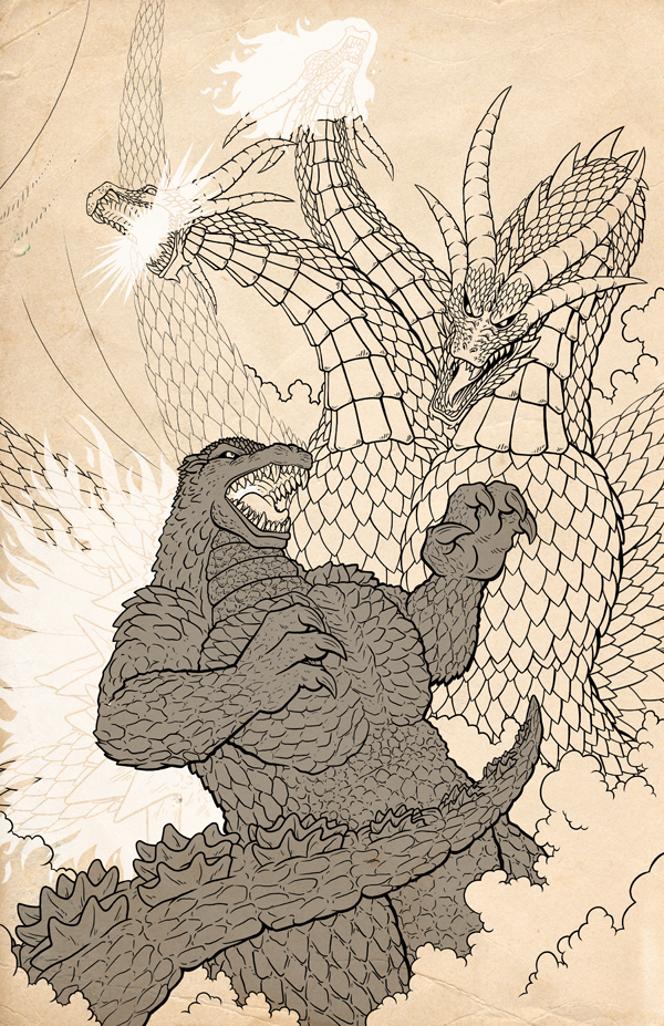 Godzilla - Charcoal Vs. Gold